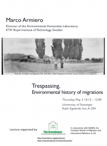 Marco Armiero: Trespassing. Environmental history of migrations